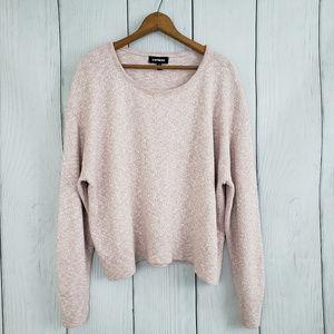 Express Heathered Pink Sweater Medium